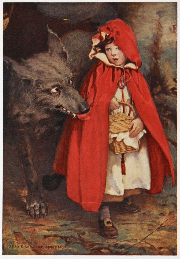 cappuccetto-rosso-e-il-lupo-in-unillustrazione-di-j-w-smith