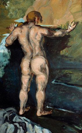 Cezanne- Bagnamte sulla roccia