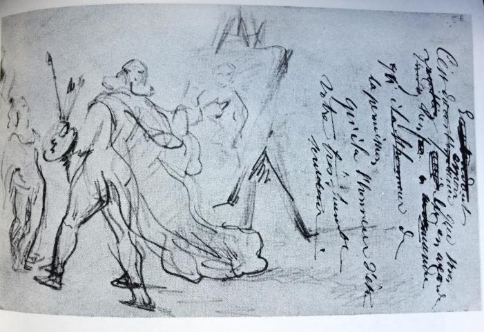 Cezanne. Frenhofer mostra la sua opera-schizzo