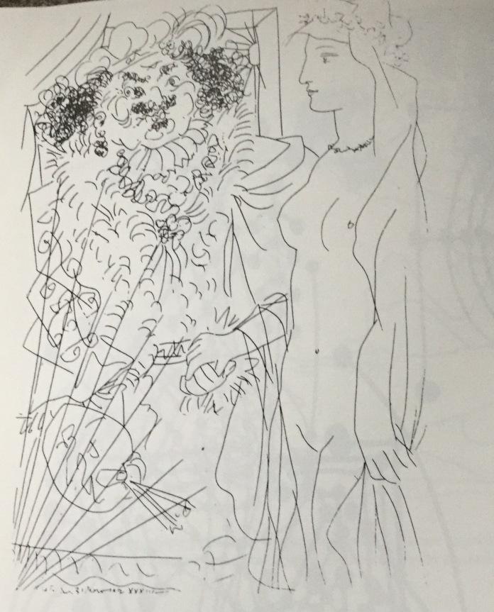 Illustrazioni per Il Capolavoro sconosciuto (edizione Vollard 1931) di Pablo Picasso che si rappresenta con la testa leonina di Rembrandt